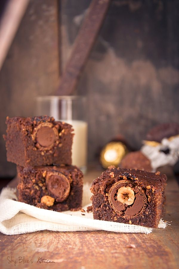 ferrero rocher brownies oh wow brownies pinterest schokoladenkuchen kuchen und schokolade. Black Bedroom Furniture Sets. Home Design Ideas