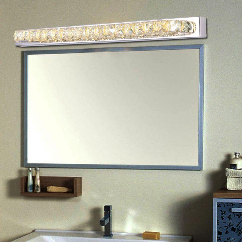 87cm Long Crystal Bathroom Mirror Sconce Light 110v 220v 23w Led