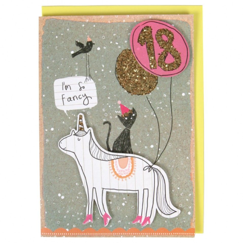 Im so fancy unicorn 18th birthday card unicorns – Paperchase Birthday Cards