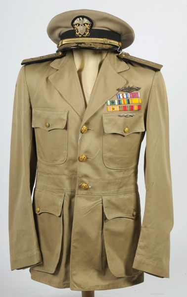 WWII Era U.S. Navy Officer s Tunic and Visor Cap ID d to Rear Admiral  William K. Phillips - Cowan s Auctions aa972f2bab9f