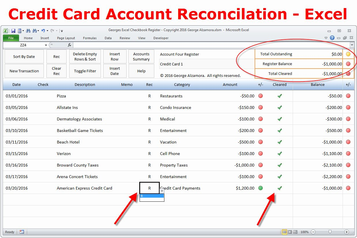 Checkbook Register Template For Mac Awesome How To