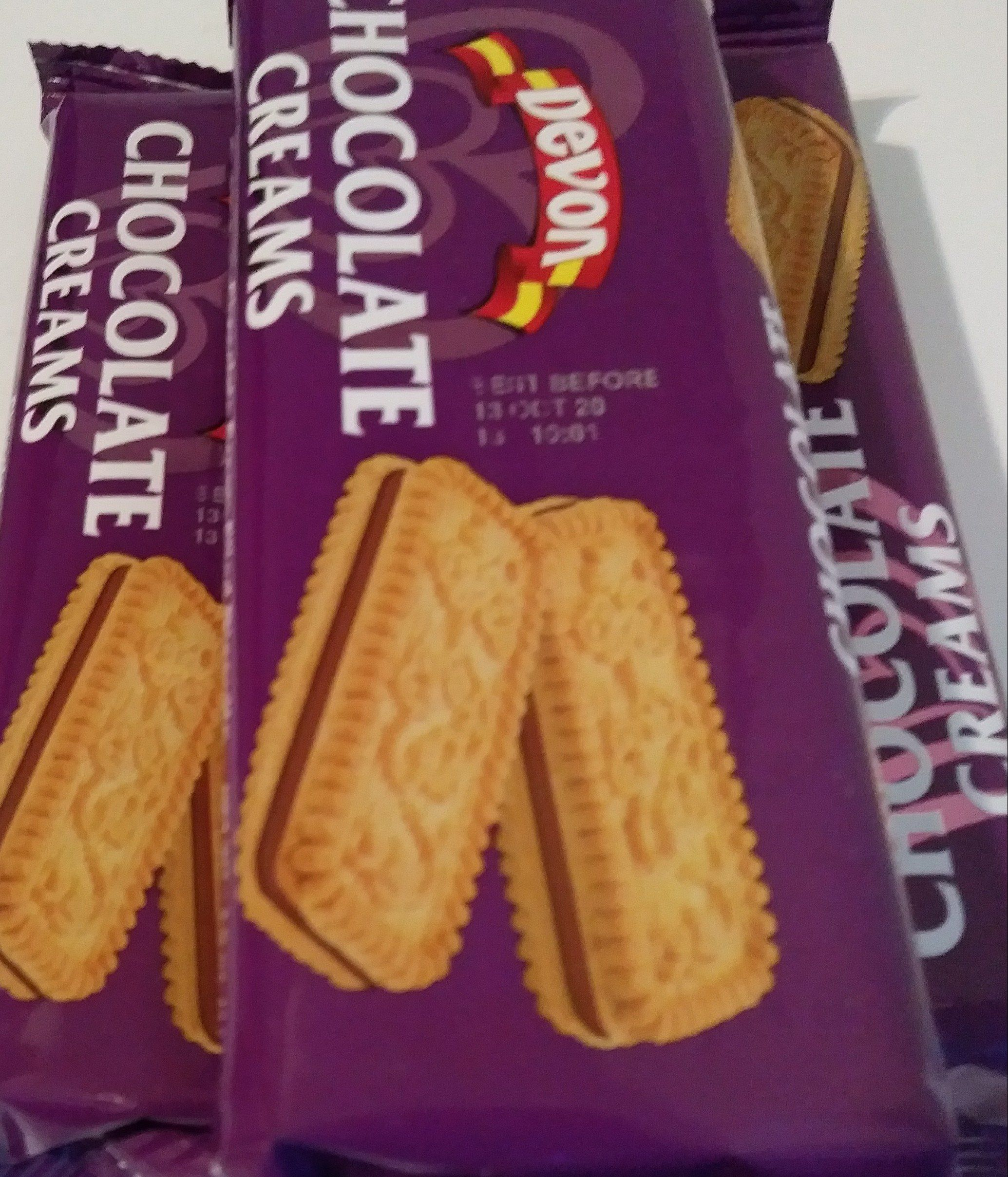 Chocolate filled biscuits