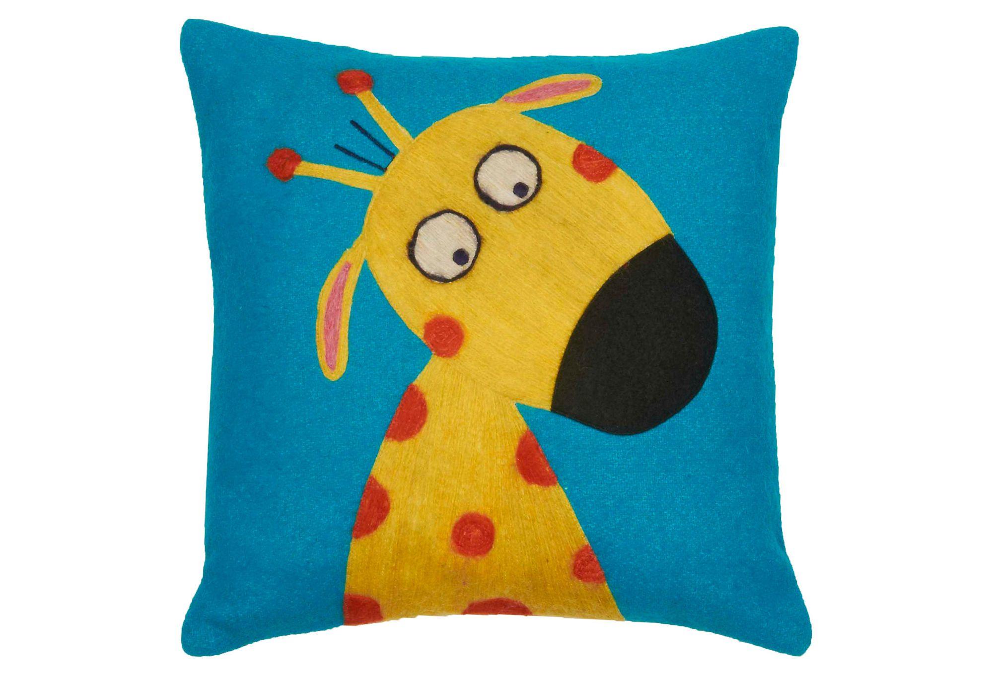 One Kings Lane - Kids' Corner - Funny Giraffe Pillow