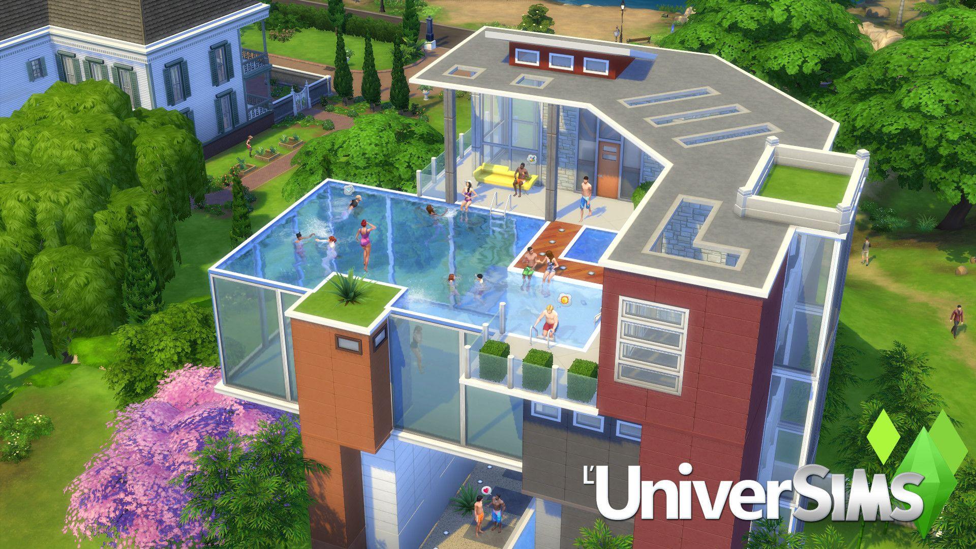 Les Piscines Arrivent Dans Les Sims 4 Maison Sims Sims Sims 4 Maison
