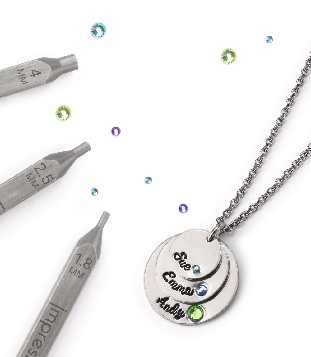 Add a spark of color to your hand-stamped pieces using ...