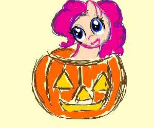 A My Little Pony in a Jack-O-Lantern