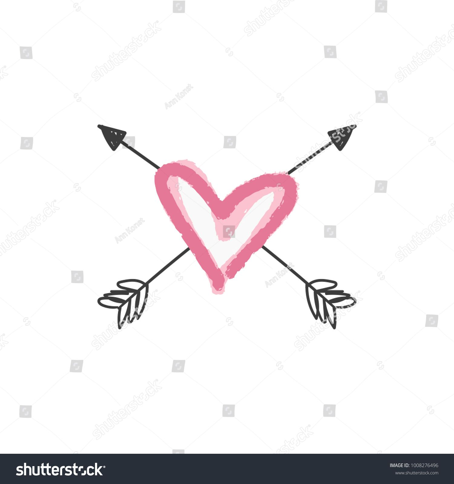 Vector handdrawn romantic label, sign. Decor element. Vector, clip art. #Ad , #AFF, #romantic#label#Vector#handdrawn
