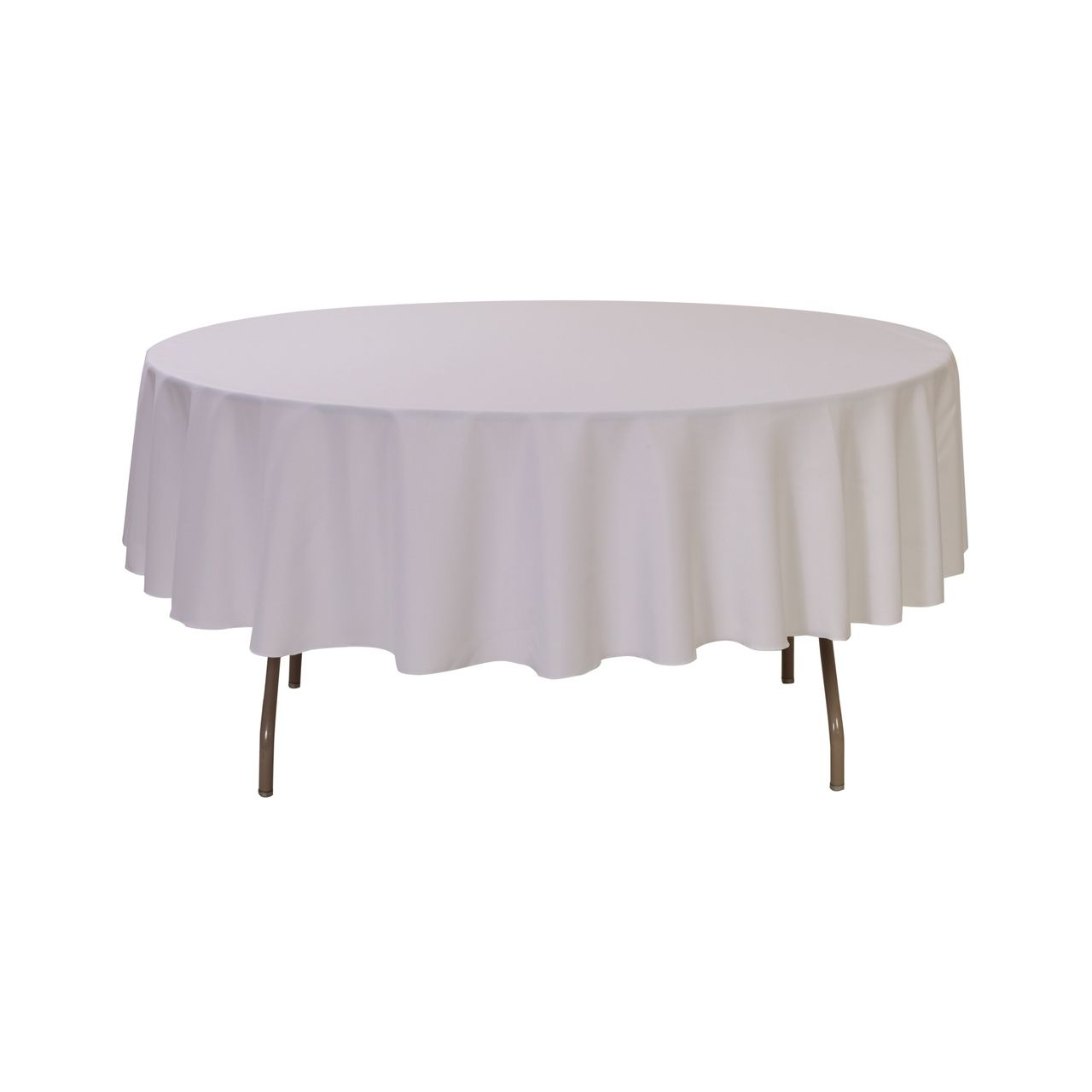 90 Inch Round Polyester Tablecloth White | Round ...