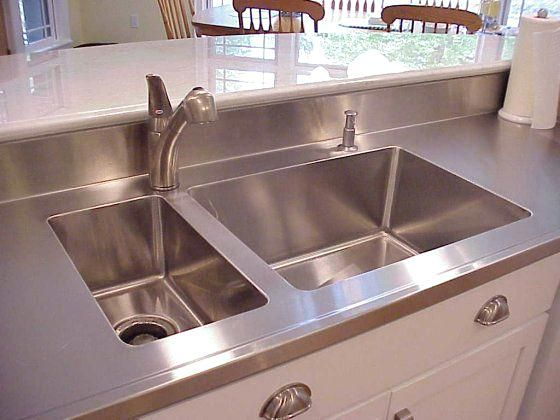 Integrated Kitchen Sink And Countertop More Stainless Steel With