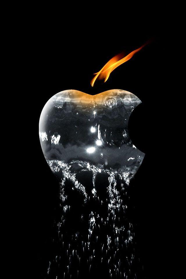 Fire n Water Apple Apple logo wallpaper, Apple logo