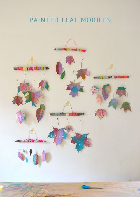 Photo of Painted Leaf Mobiles