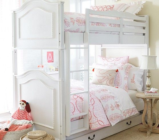 Mill Valley Bunk Bed Dove White Twin Over Twin Converts To Two