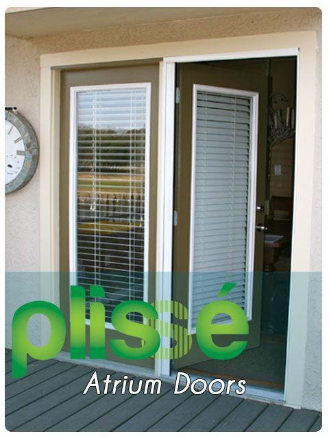 Plisse Atrium Doors Retractable Screen Doors Pinterest Doors