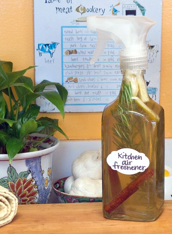 This Diy Air Freshener Gets Rid Of Bad Smells In The Kitchen Diy Air Freshener Air Freshener Diy Cleaning Products
