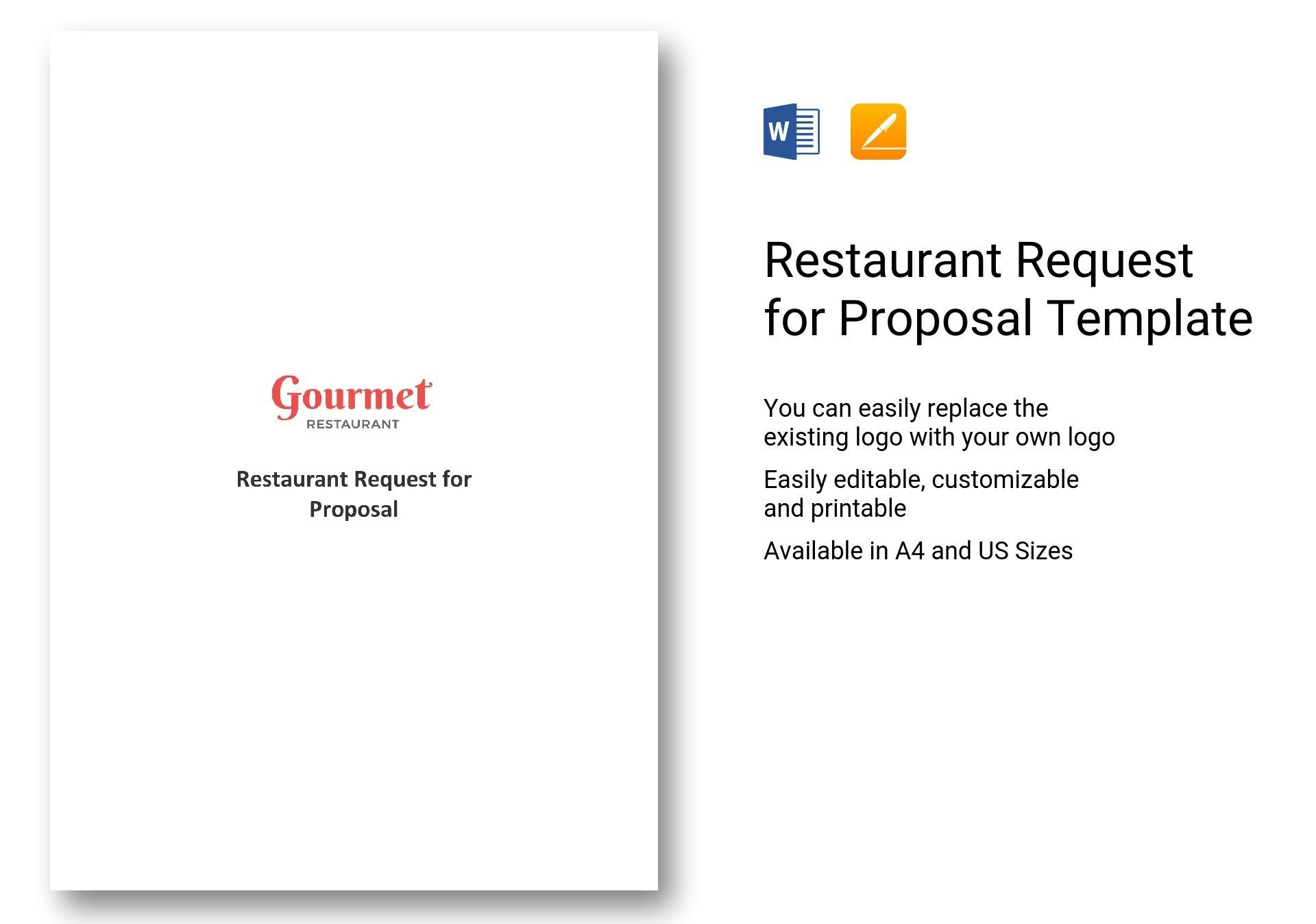 Restaurant Request For Proposal Template Checklist Template Proposal Templates Templates