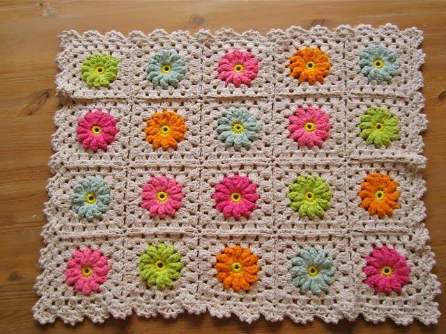 Quadradinho De Croche Com Flor Passo A Passo Padroes De Flores De Croche Flor De Crochet Modelo De Croches Afegaos