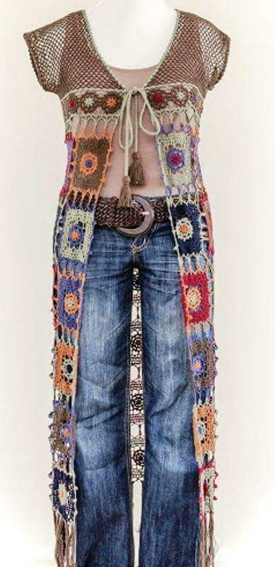 Love This Though I Wouldnt Wear A Vest This Long Hippie