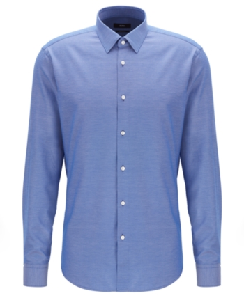 ce4d536b Boss Men's Eliott Regular-Fit Cotton Shirt - Blue 15.5 in 2019 ...