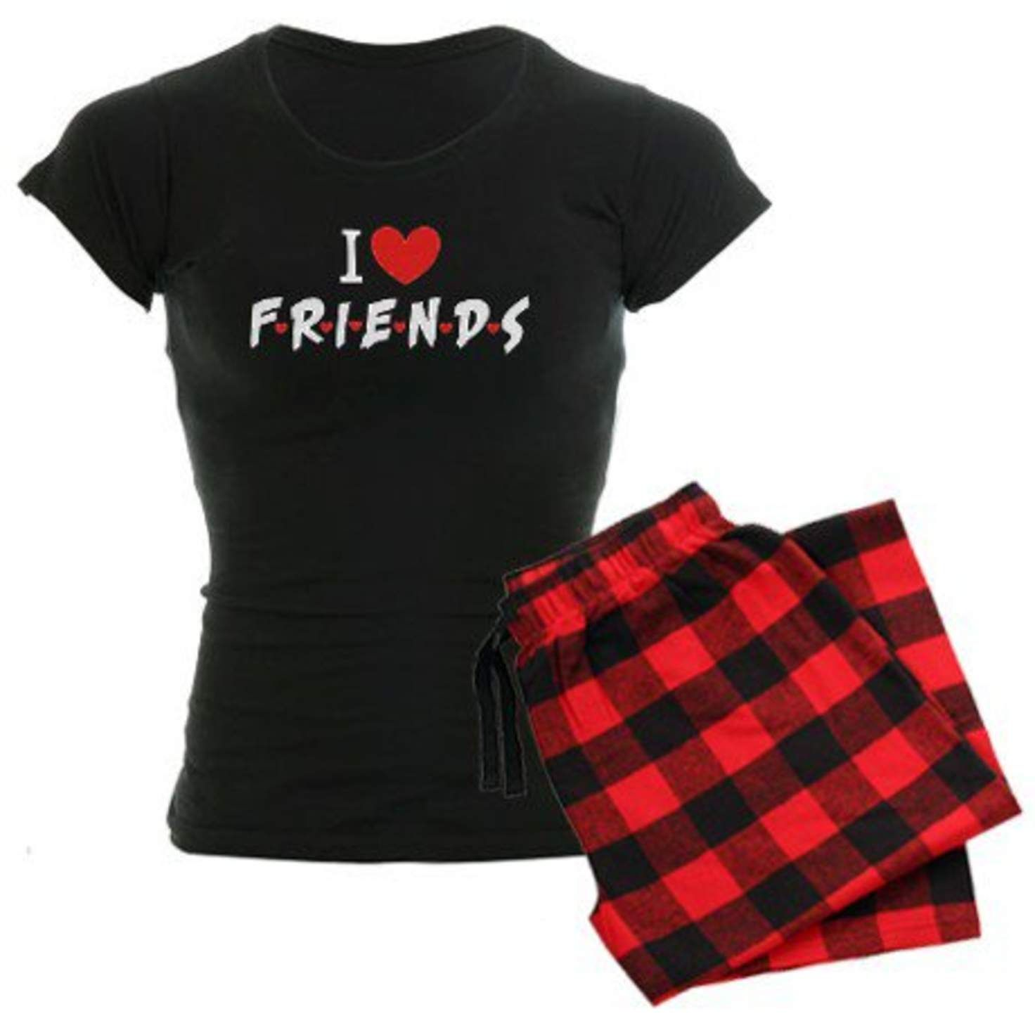 Red flannel nightgown  I heart Friends TV Show Pajamas on CafePress  SleepwearuThings