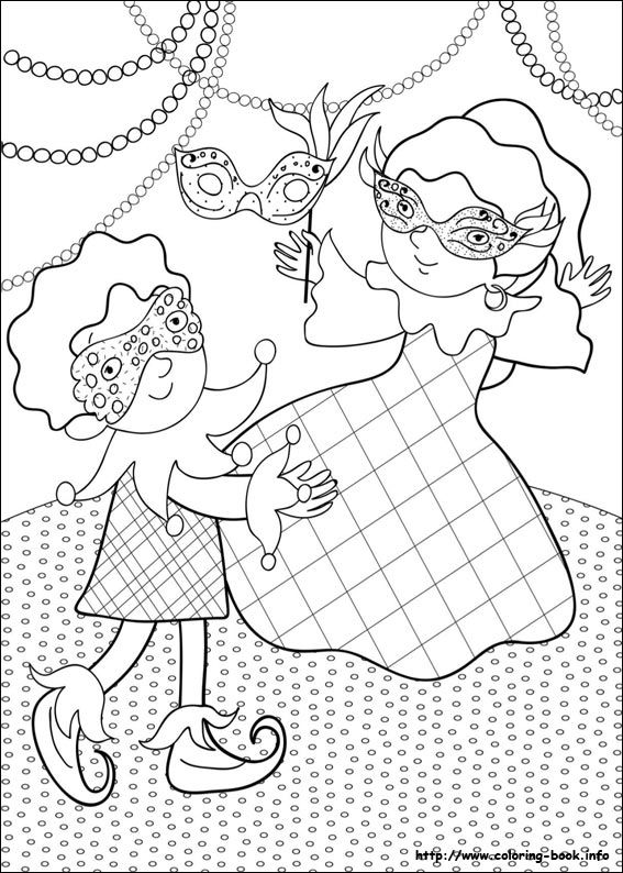 Carnival coloring picture Color me pretty Young ones Pinterest