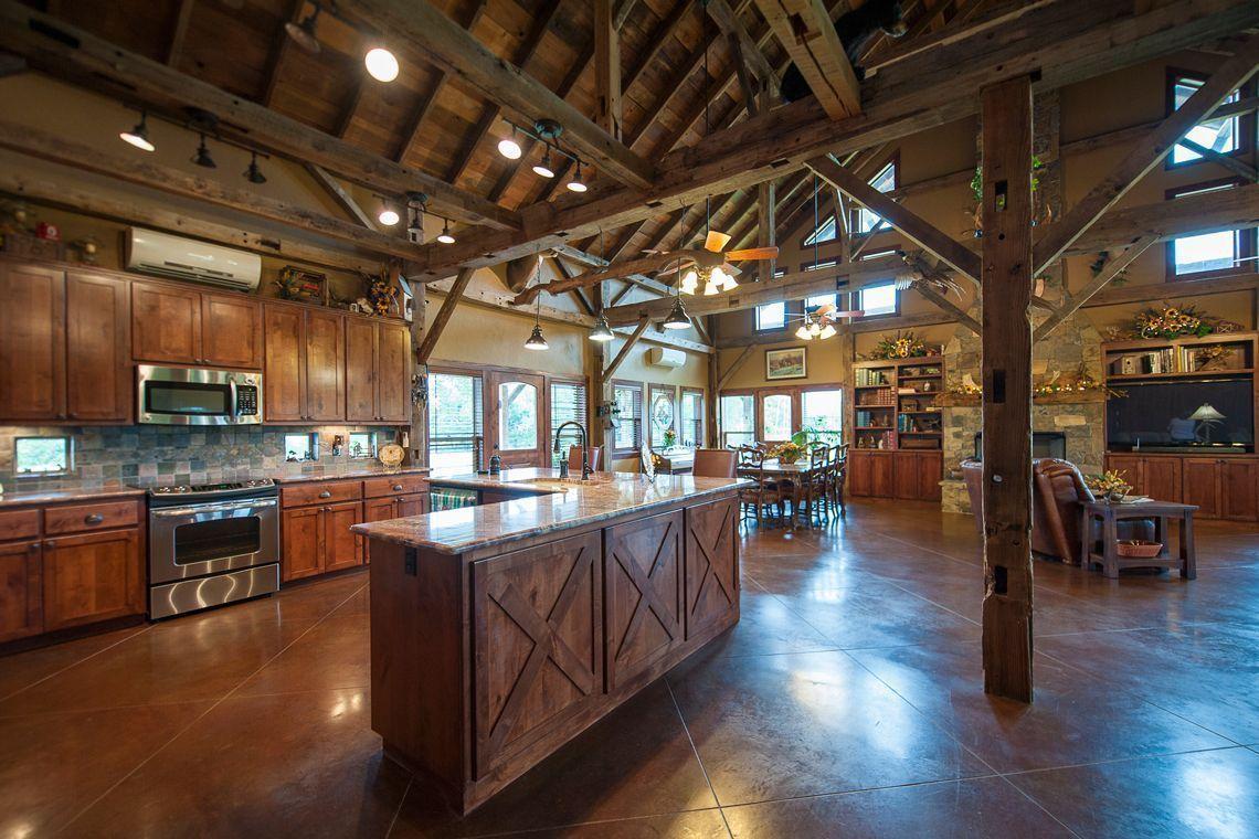Concrete Home Pole Barn Interior