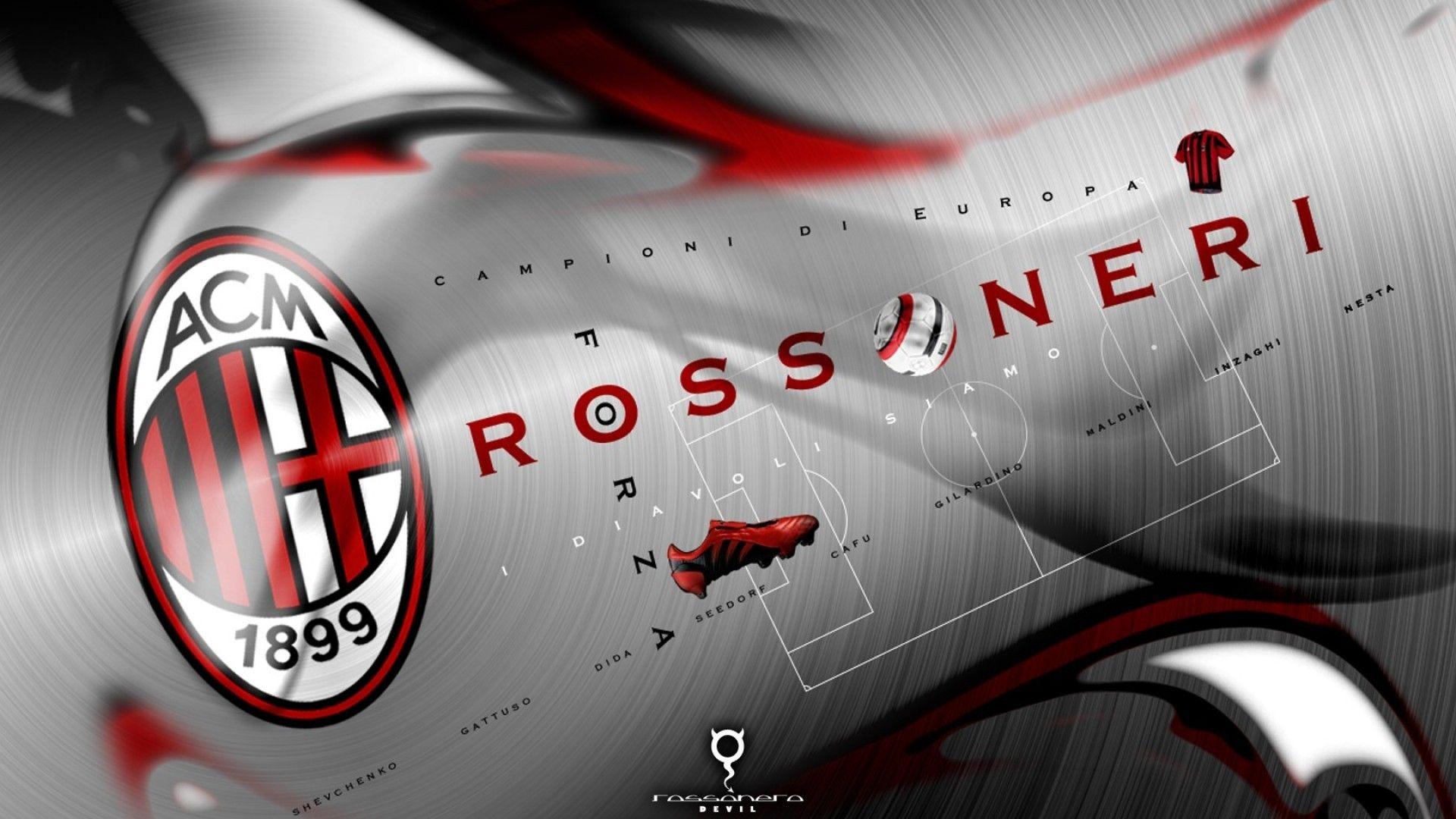 Ac Milan Logo Hd Wallpaper Backgrounds Milan Wallpaper Ac Milan Milan