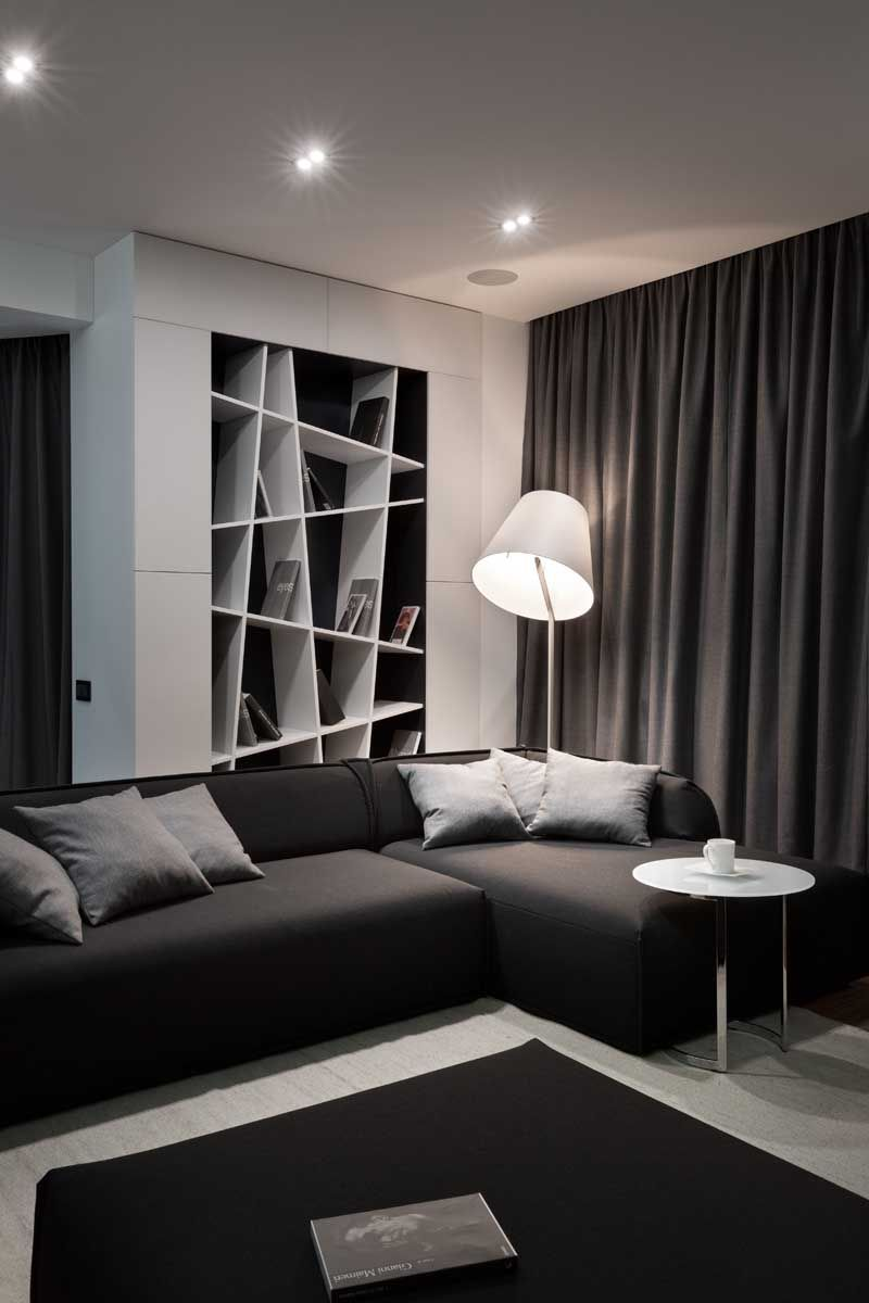 Apartment Interior With 4 Rooms: Denis Rakaev Has Recently Completed The Interior Design Of