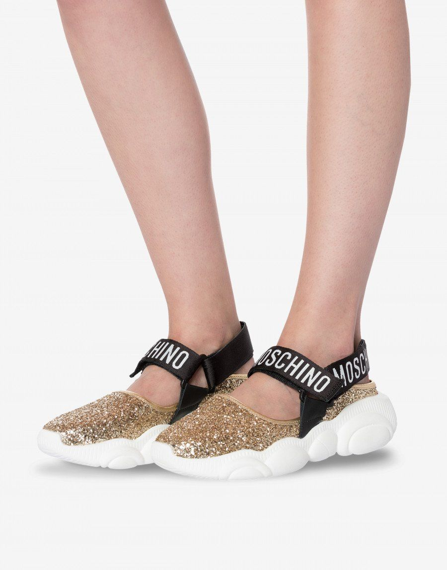 106e738fe Teddy Run glitter sandals - Teddy Shoes - SS19 COLLECTION - Moods - Moschino