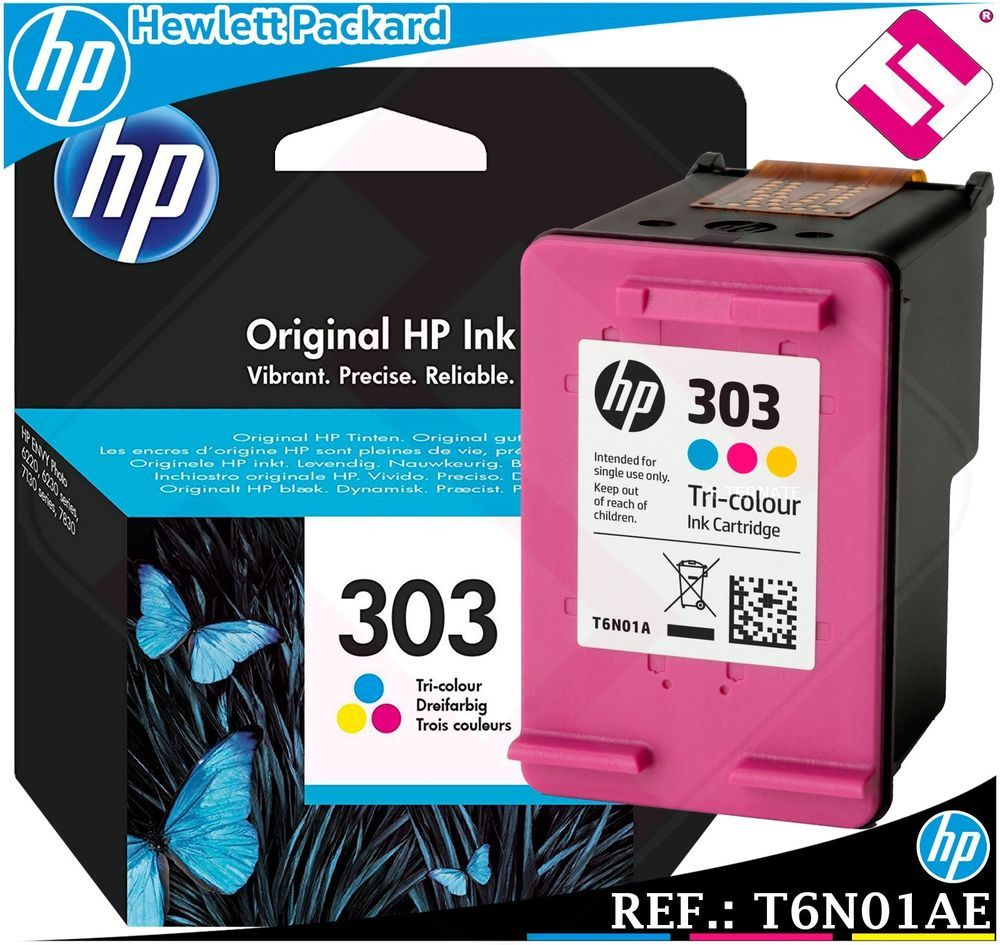 Detalles De Tinta Tricolor 303 Original Para Impresoras Hp Envy