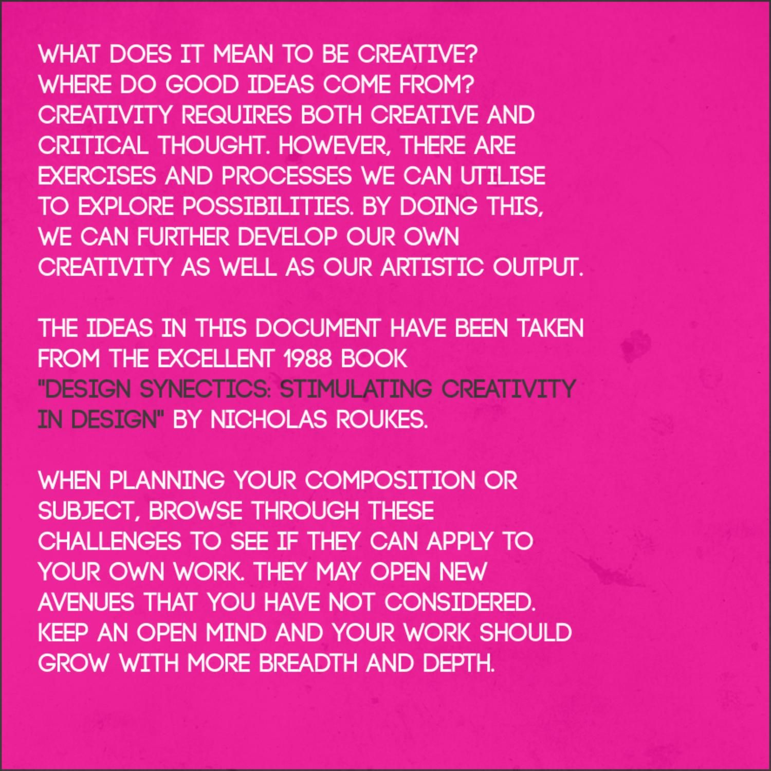 ISSUU - Art Think: Ways of Working - A Creative Approach for Students of Art by Frank Curkovic