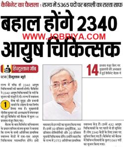 Bihar Health Dept Ayush Medical Officer Recruitment 2019 Bihar