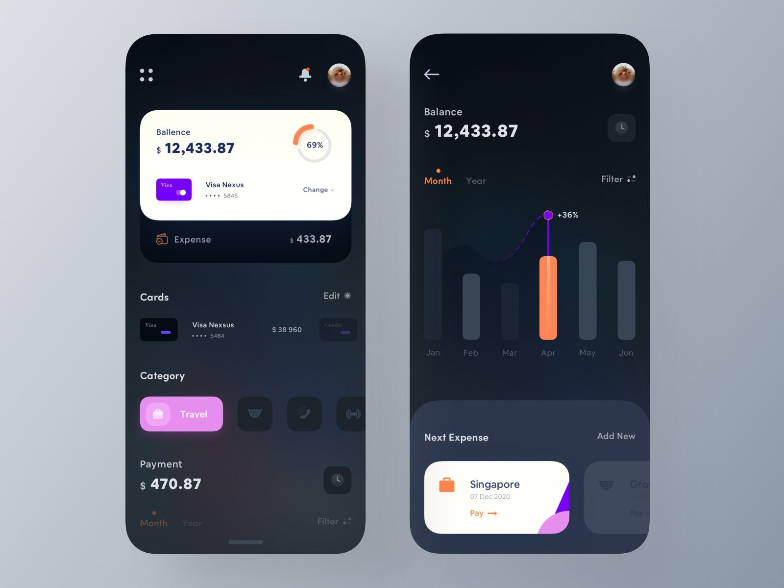 Wallet app design. Hope everyone will like it. Thank you