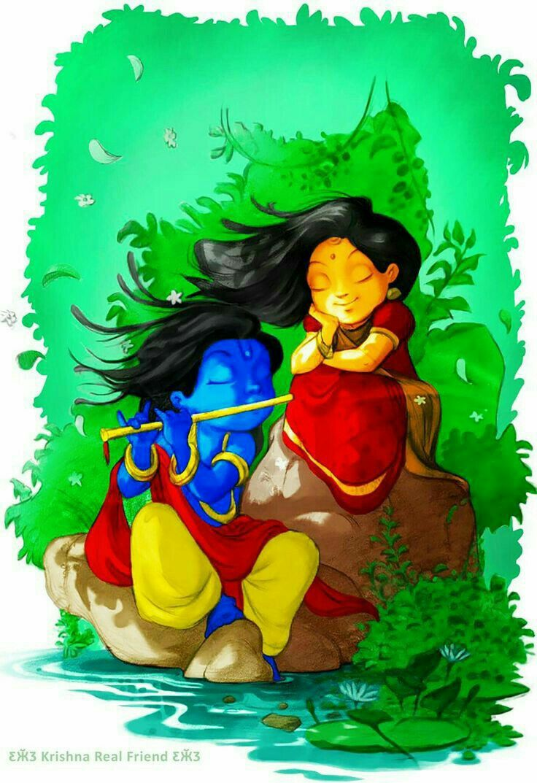 Pin By Vasavi Sikhakolli On Cartoon Characters Krishna Art Radha Krishna Images Radha Krishna Art