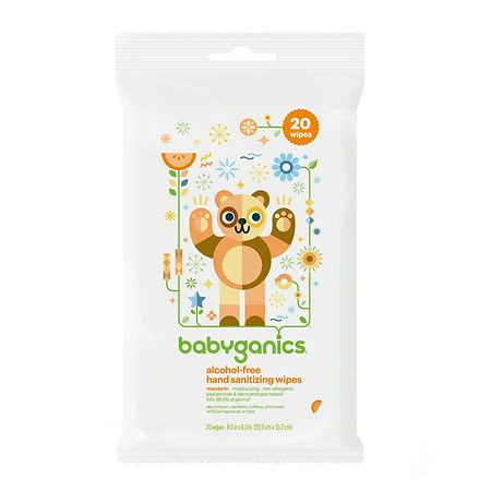 Babyganics Alcohol Free Hand Sanitizing Wipes Mandarin Hand