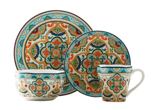 Moroccan Dinnerware Sets | Mediterranean Dinner Sets and Tuscan Style Dinnerware like this color palette too can work with white/off white to cream ...  sc 1 st  Pinterest & Moroccan Dinnerware Sets | Mediterranean Dinner Sets and Tuscan ...