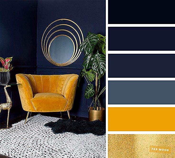 Les Meilleurs Coloris De Salon Bleu Marine Jaune Moutarde Et