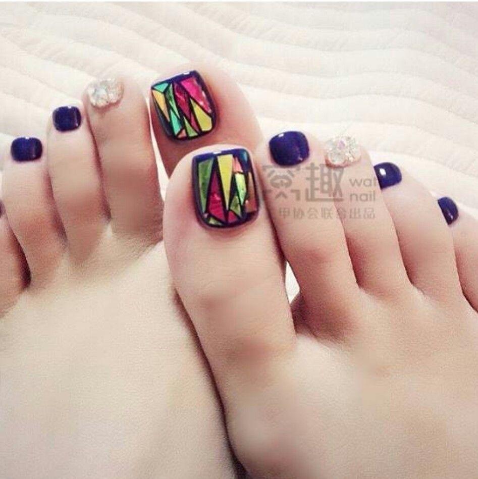 Broken Glass Nails Purple