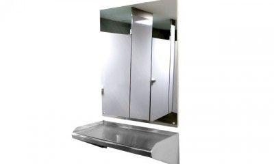 Espejo de Acero Inoxidable   Mamparas para baño ...