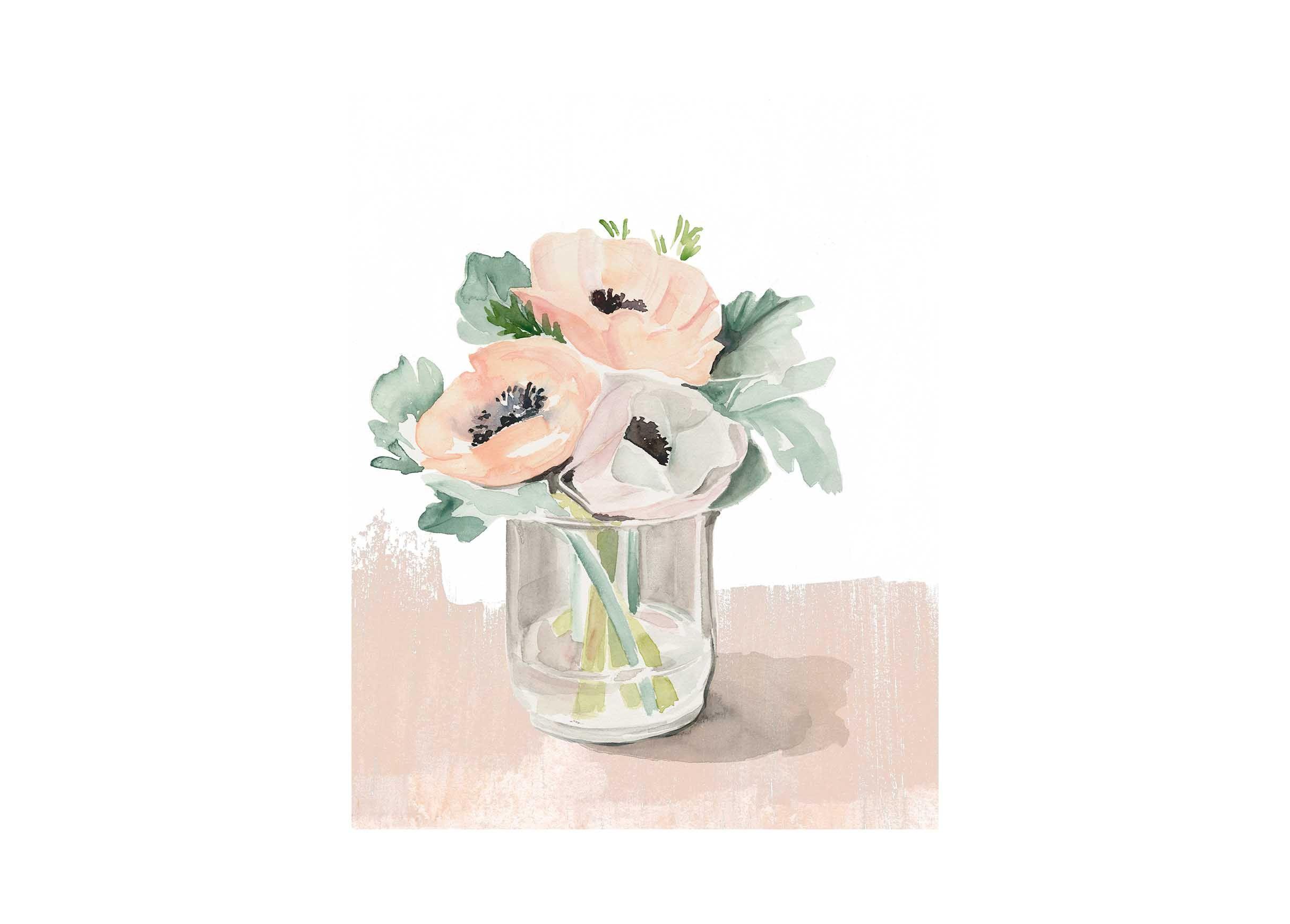 Bud Vase I Bud vases, Flower bouquet vase, Framed artwork
