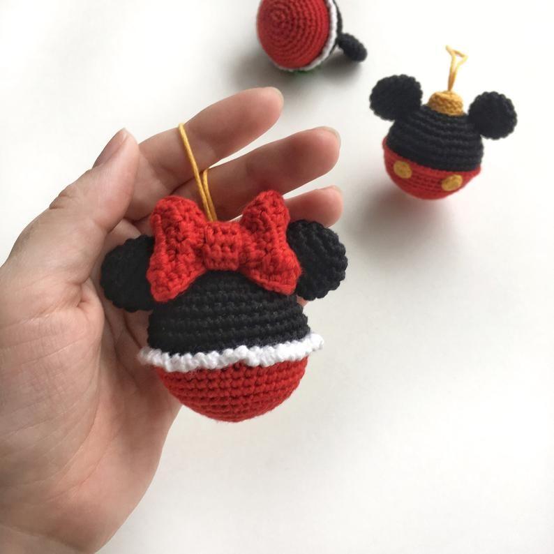 Disney bauble ball Mickey&Minnie Mouse crochet pattern ...