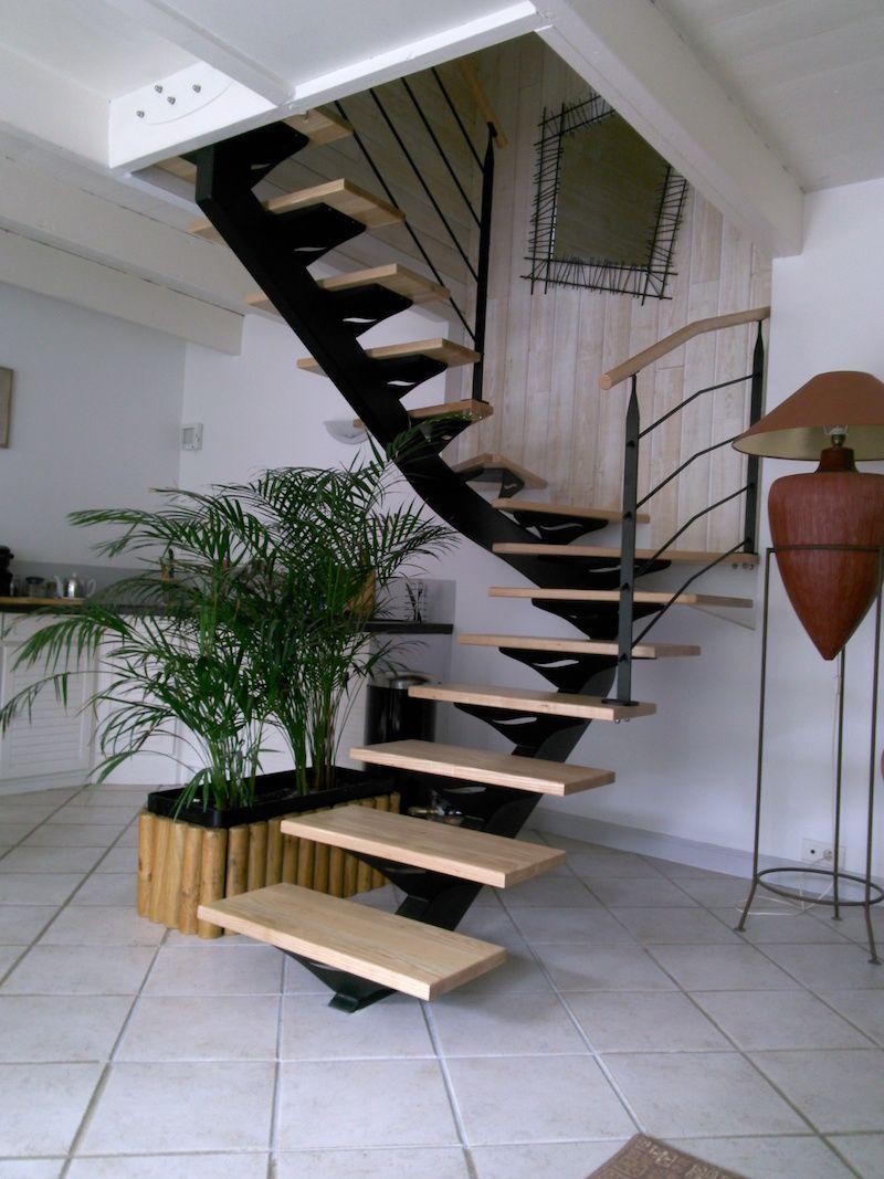Gamme Lotus Escalier Metallique Avec Limon Central Double