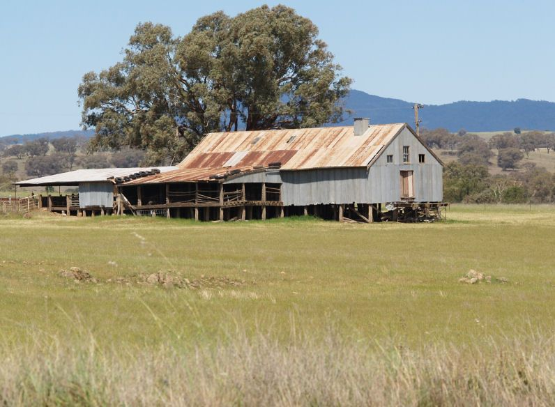 Rustic Shearing Shed In Rural Australia Went To A Dance