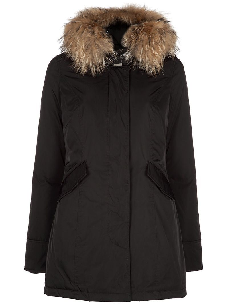 WOOLRICH'luxury artic' parka Price : € polyester parka from Woolrich  featuring a feather down filling, a hood with a Murmasky fur trim, a  concealed front ...