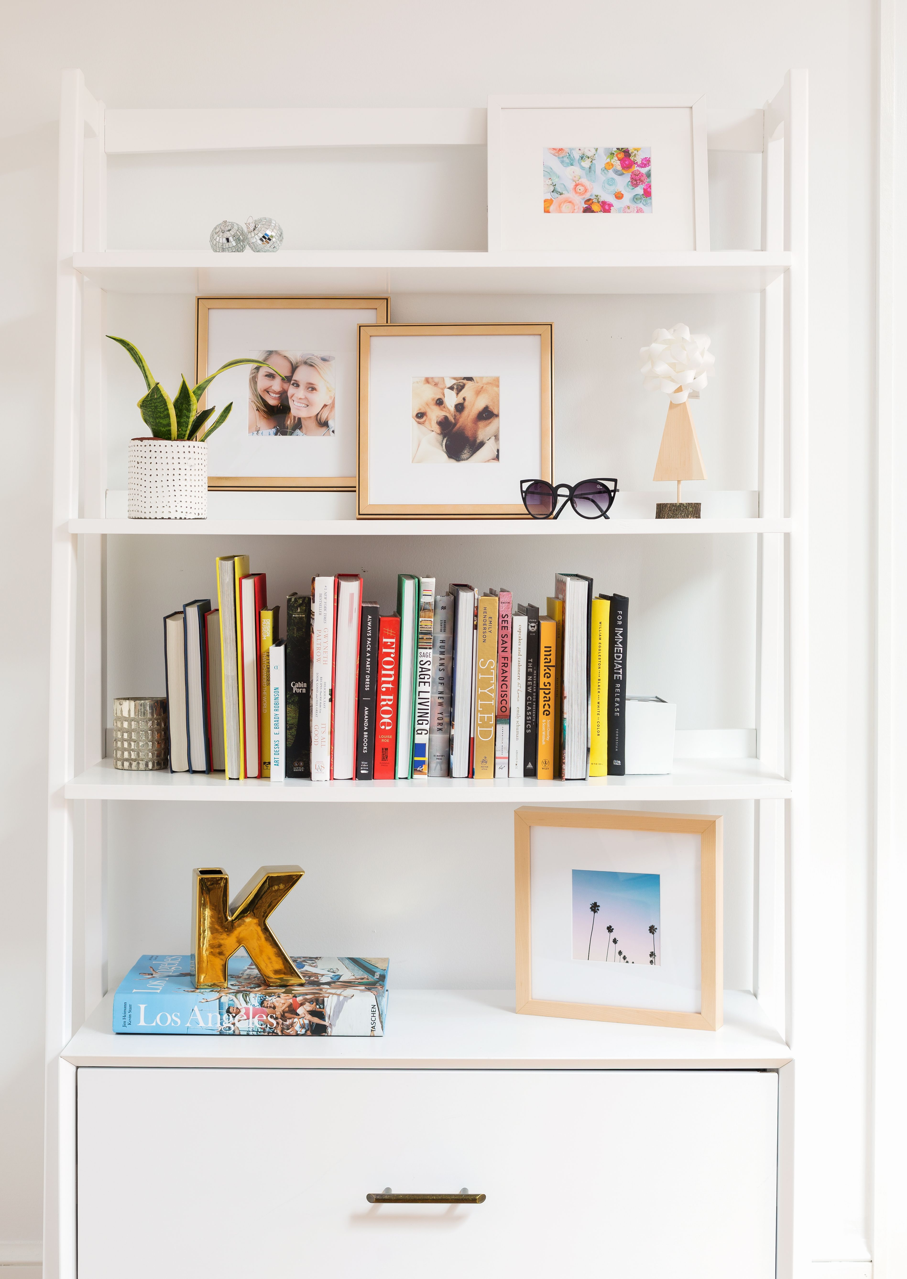 A bookshelf full of our favorite framed Instagram pictures from ...