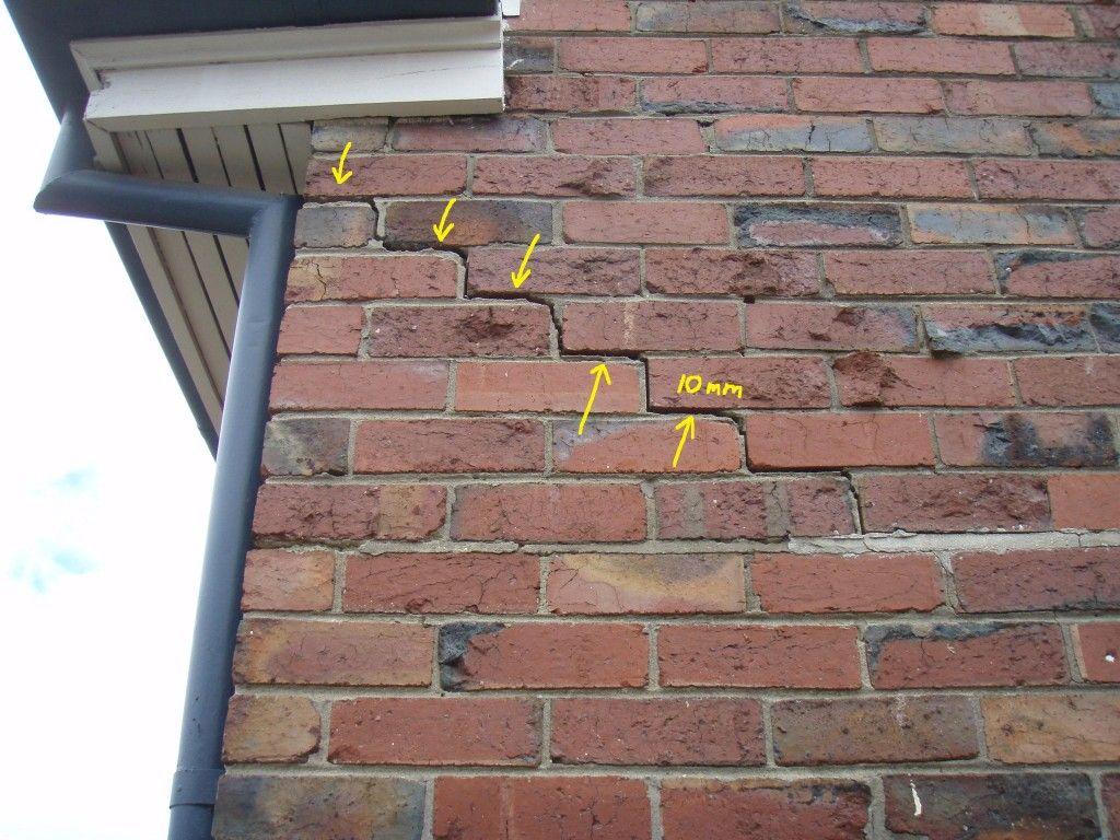 Brick Wall Cracking Mr Inspector Brick Repair Brick Wall Diy Brick Wall