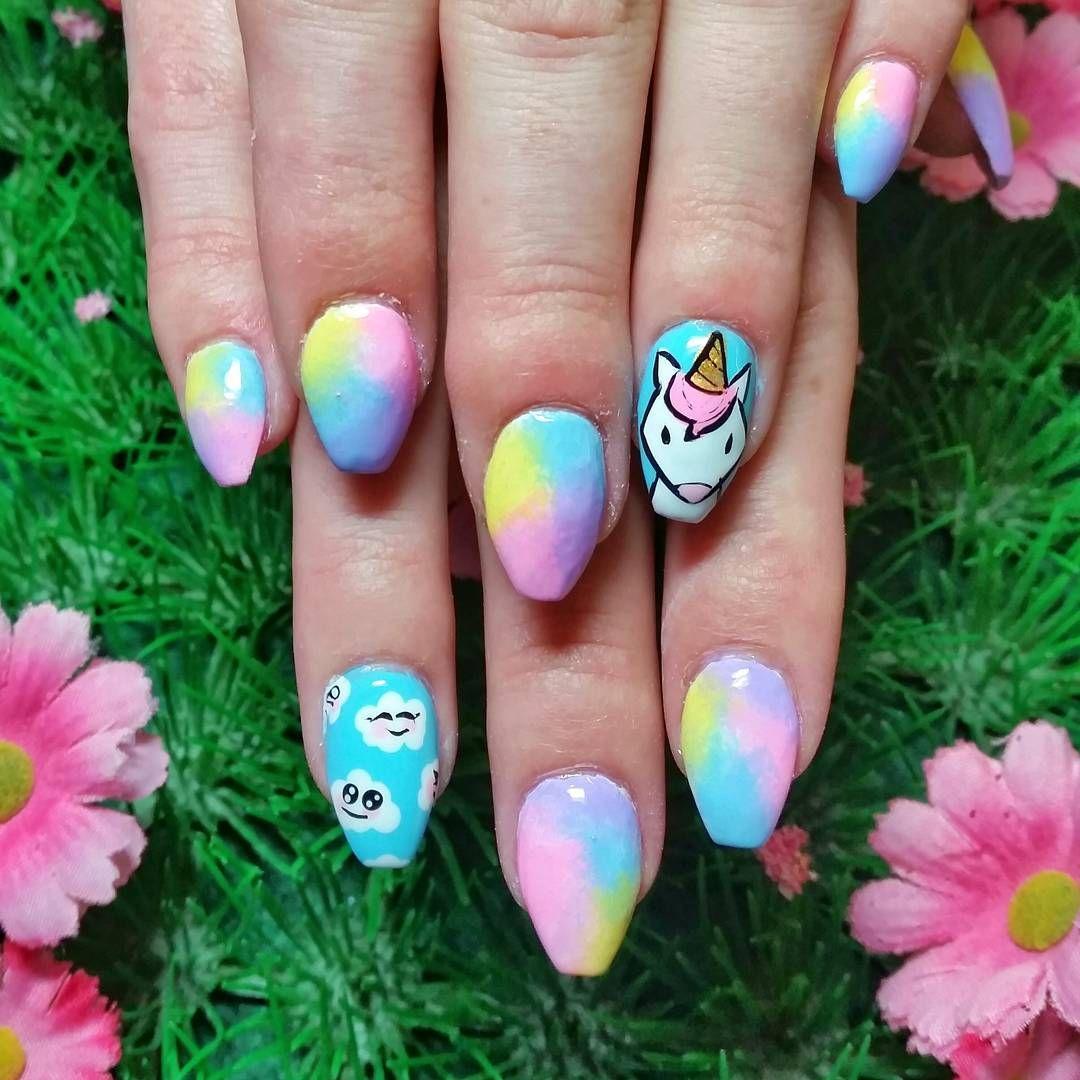 ides nail art licorne sant