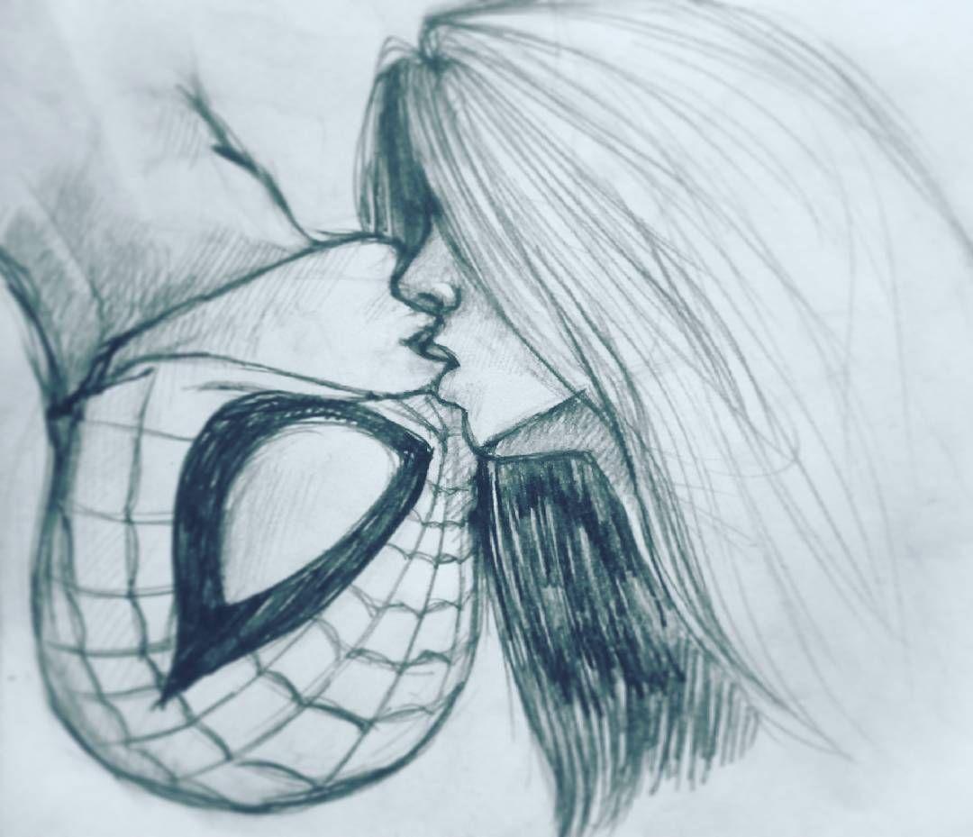 Kiss spidey! Kiss! #art #illustration #drawing #draw #spiderman ...