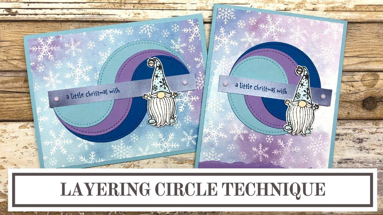Layered Circle Technique for Card Makers