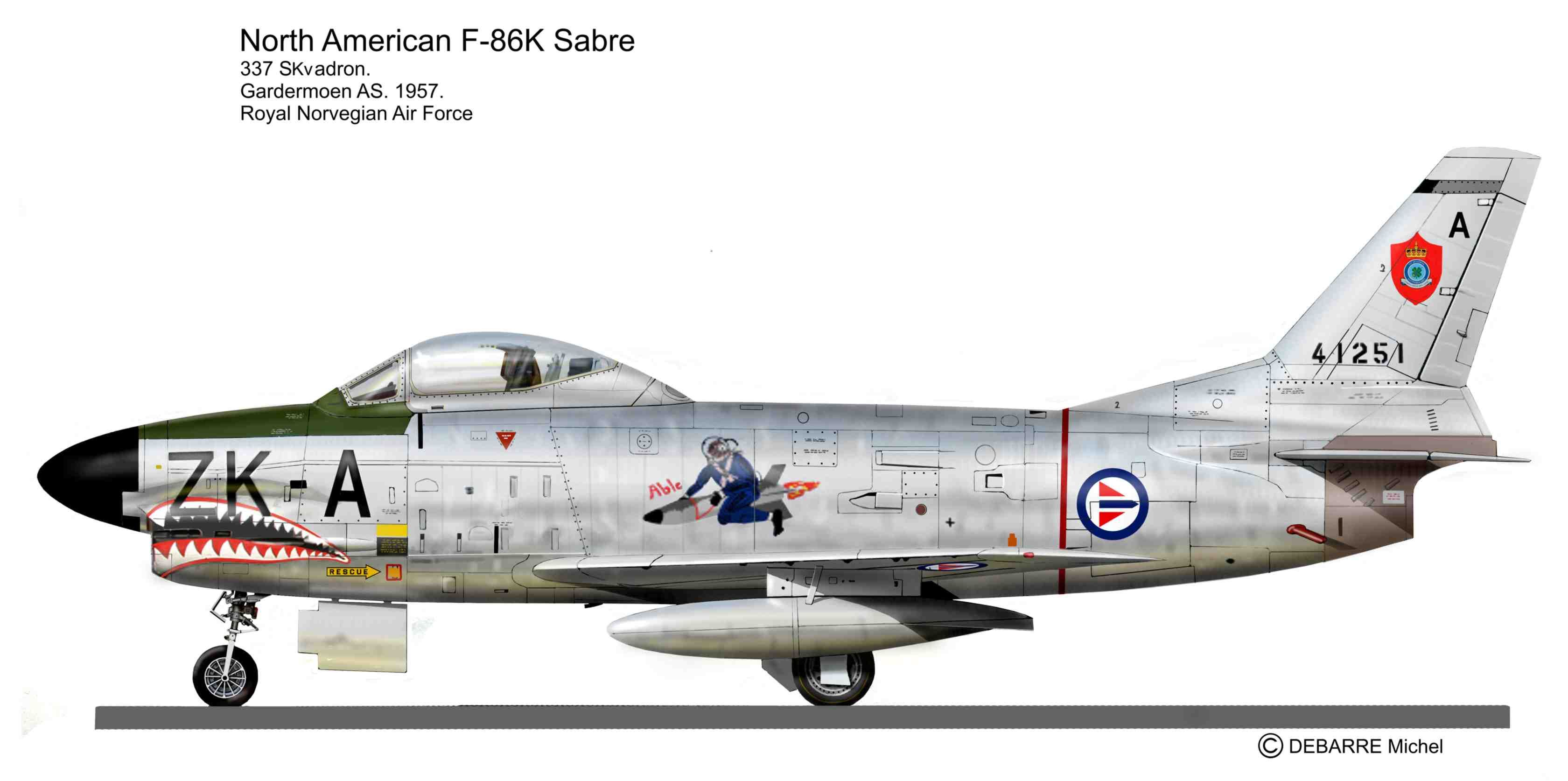 F-86K Norway AF | Post WW II Color profiles Jet Aircraft ...