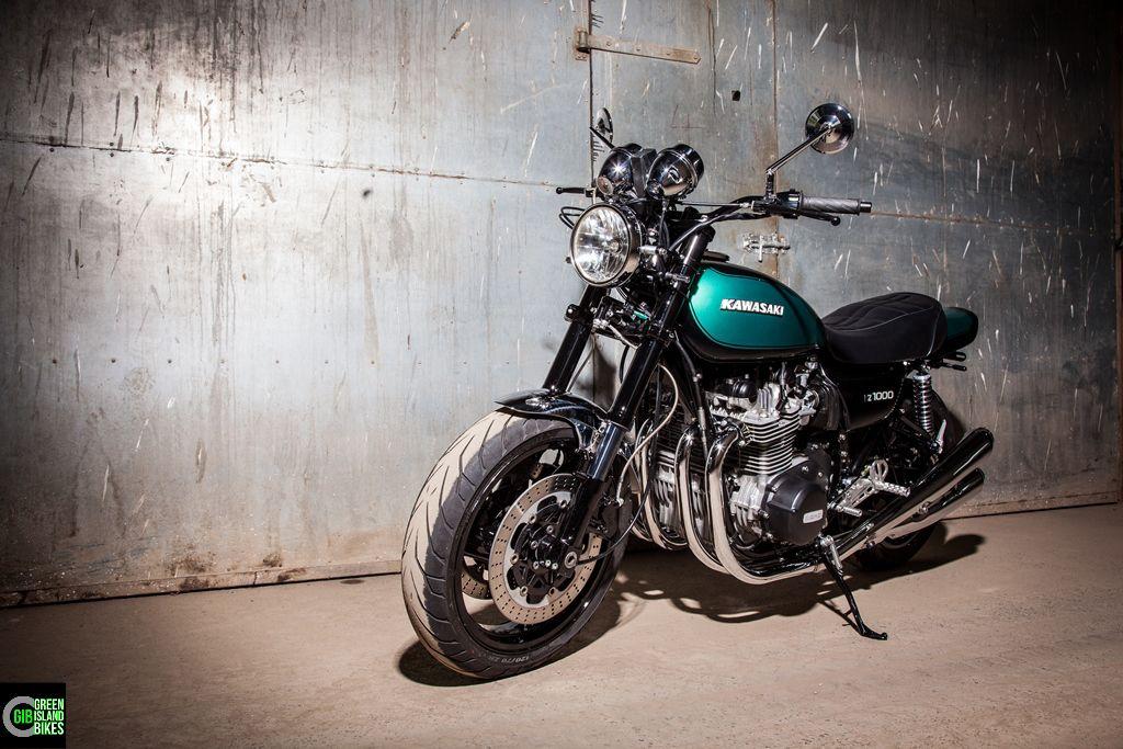 Hier ein weiterer Kawasaki Z 1000 Umbau von Green Island Bikes. Auch dieses Custombike fällt in die Kategorie    -- Moderne trifft Klassik --  #gib #kawasaki #Z900 #z1000 #greenislandbikes #custombike #elbinsel #krautsand #caferacer #oldschoolbikes